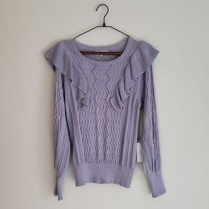 Apiece Apart Malaga Ruffle Crew Sweater